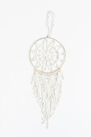Dreamcatcher: small; white and silver