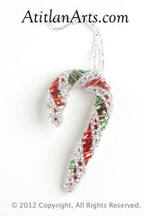 Christmas Candy Cane, spiral pattern red/green [Holiday, Christmas]