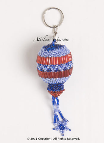 Ornament with fringe red blue [Christmas, Holiday]