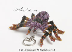 Spider Tarantula purple black [Arachnid-Insects] Figurine