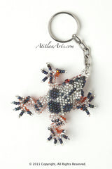 Tree Frog silver with blue spots [Frogs]