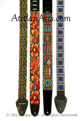 Hand Beaded Guitar Straps - group of 4 on Sale!