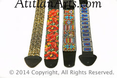 Hand Beaded Leather Guitar Straps