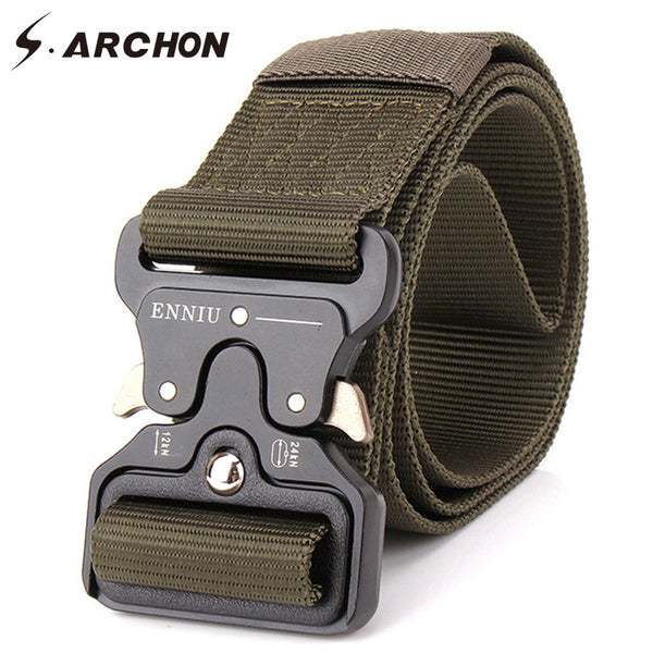 Military Tactical Belt With Metal Buckle