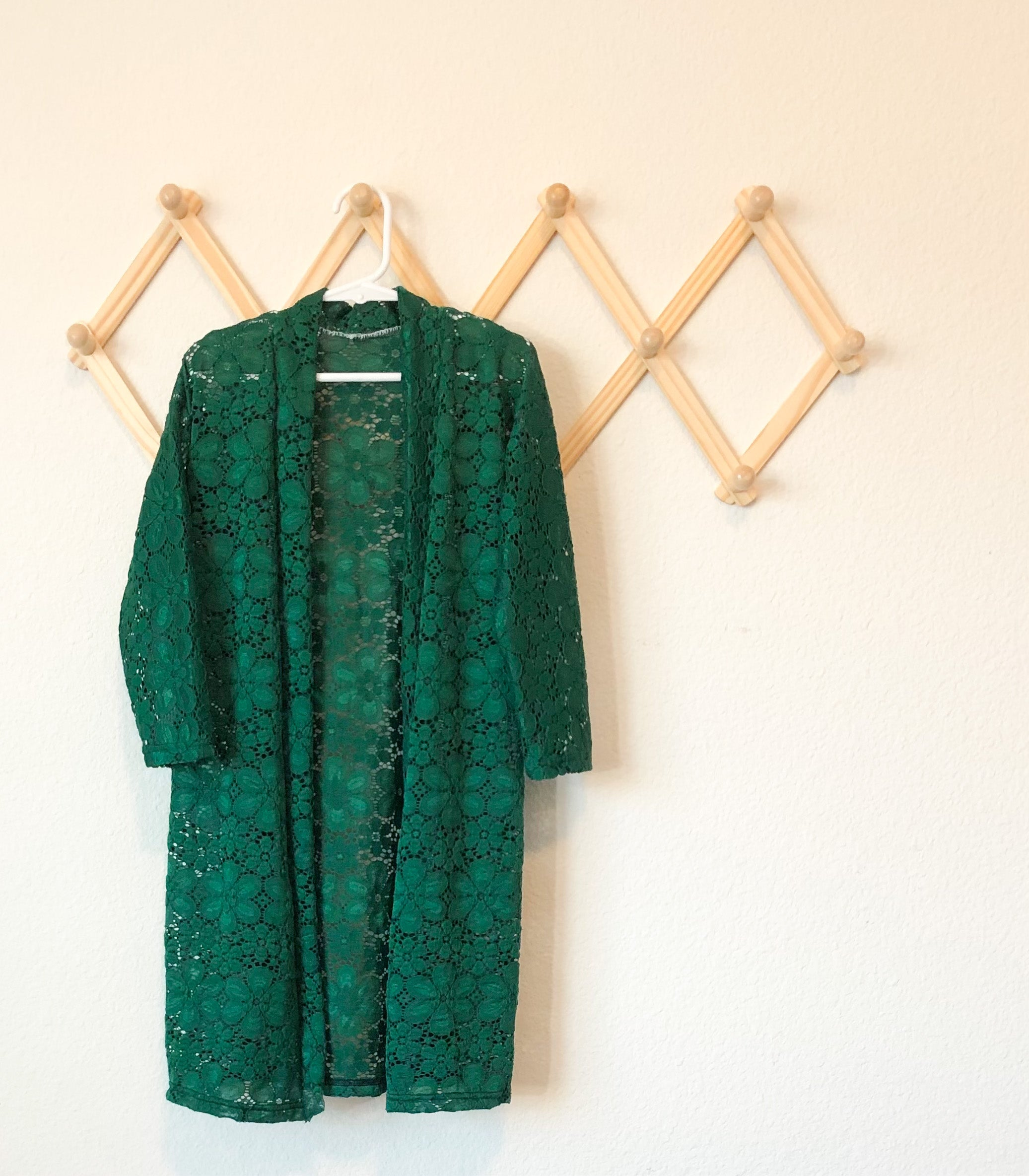 Duster: Green Lace Floral