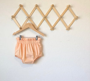Ruffle Top Bloomers: Peach