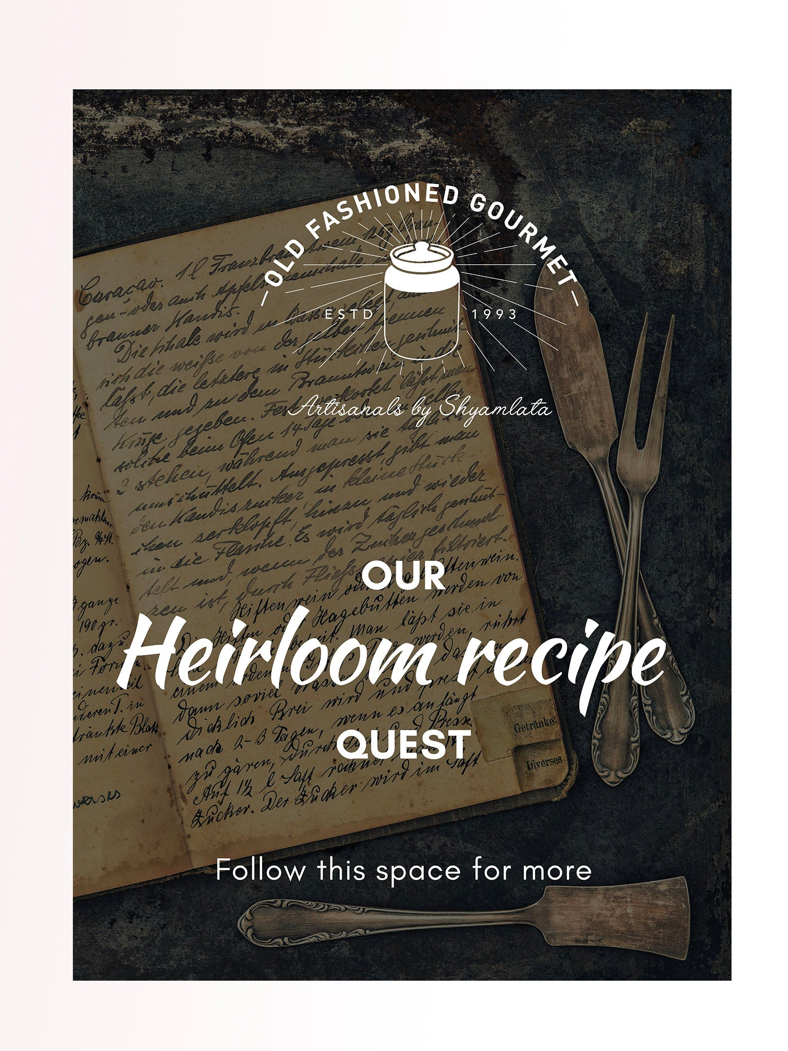 Heirloom recipe Journal