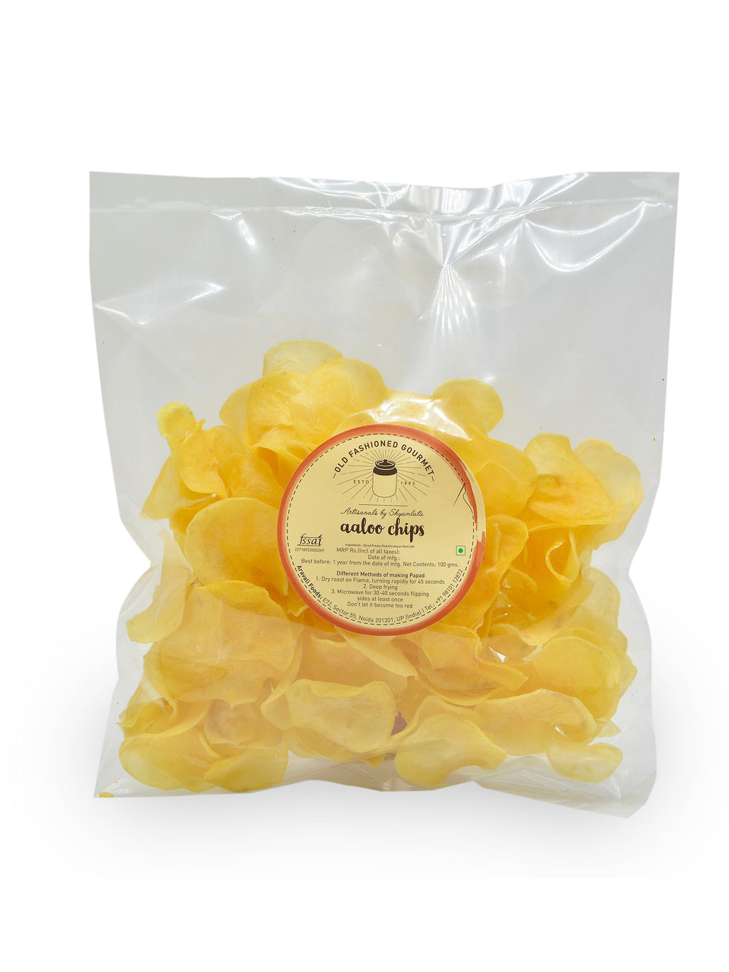 Chemical free-Aaloo chips