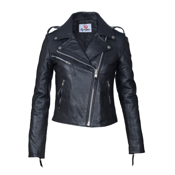 Tailored Fit Top Grain Leather Jacket-For ladies-karizmamoto