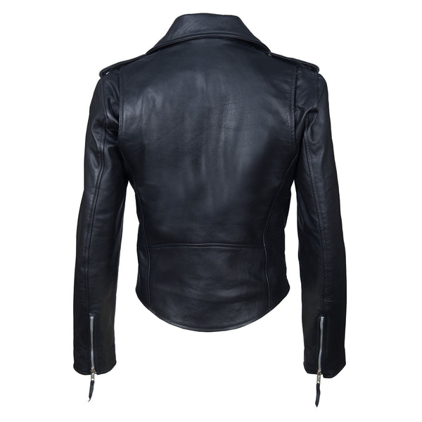 Sharp Tailored Leather Jacket For Ladies-For ladies-karizmamoto