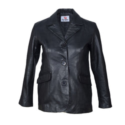 Classic Design Leather Jacket For Ladies-For ladies-karizmamoto