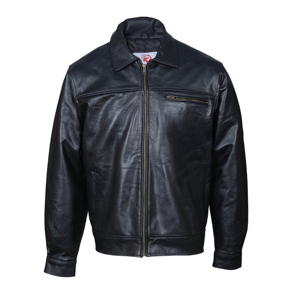 Black Leather Jacket, Top grain cowhide leather-For Man-karizmamoto
