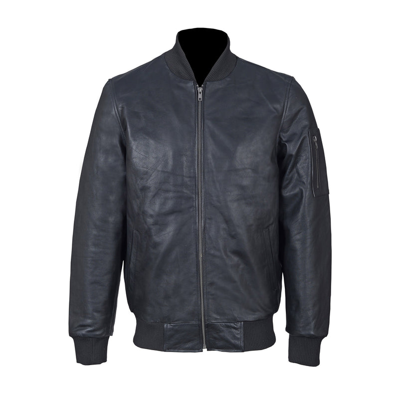 Tailored Fit Top Grain Leather Jacket-For Man-karizmamoto