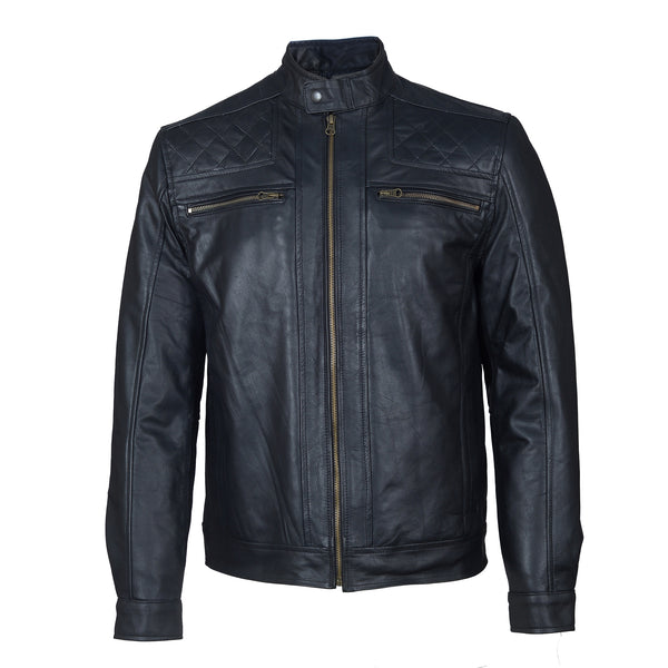Smooth, Premium Top Grain Cowhide Leather Jacket-For Man-karizmamoto
