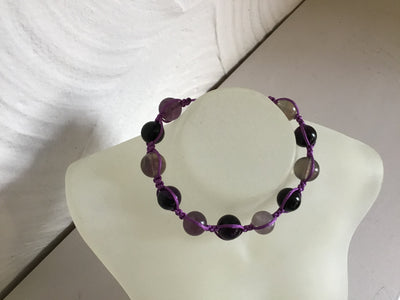 Friendships bracelet: Amethyst natural stone