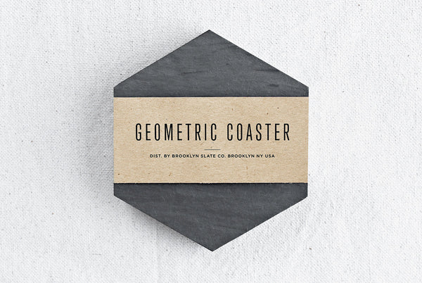 Geometric Slate Beverage Coaster