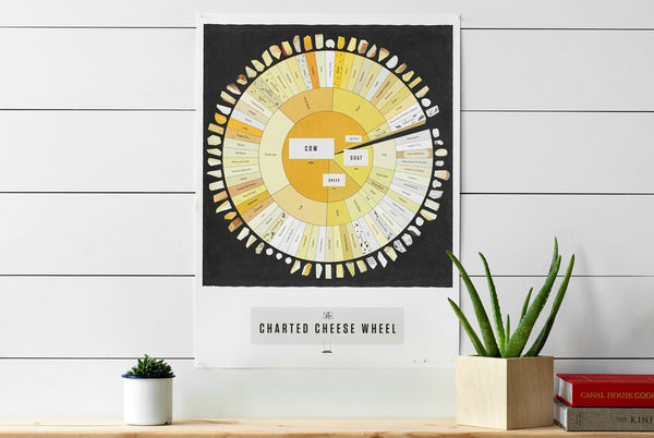 Charted Cheese Wheel Poster