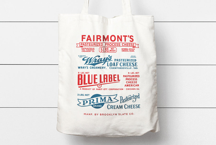 Vintage Cheese Box Tote