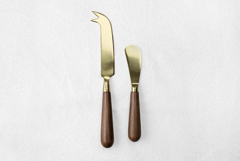 Gold Cheese Knife Set