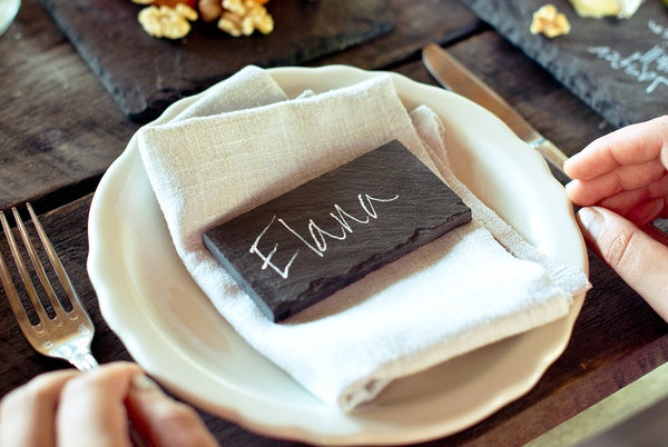 Slate Table Setting Placard