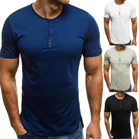 Fashion Casual T-Shirts Men Basic