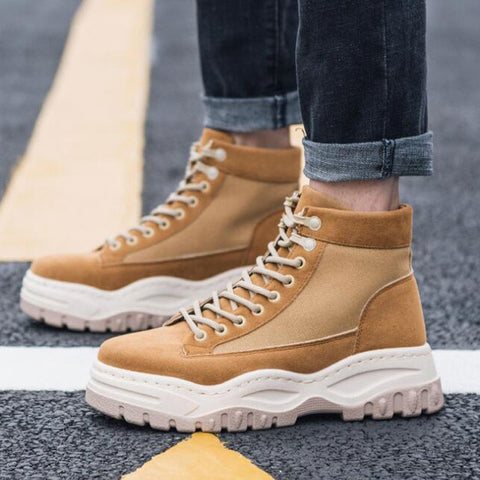 Tangnest NEW Fashion Canvas Ankle Boots