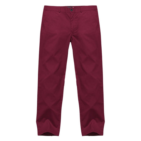 Casual Men's Pants Button Solid Color Classic