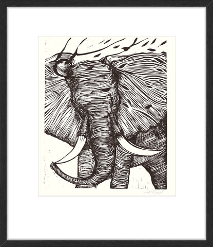 Endangered Species Elephant Etch