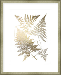 Gold Foil Ferns III