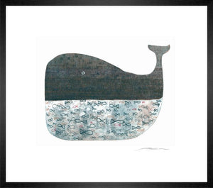 Blue Whale Etching I