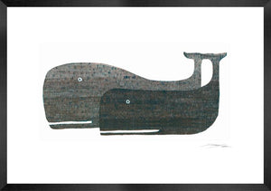 Two Whales Etching