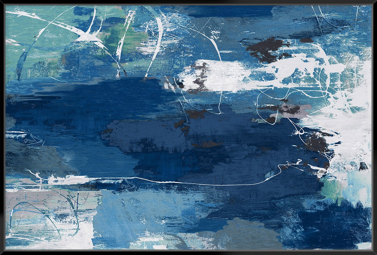 Blue Abstractions 153X103Cm / Black