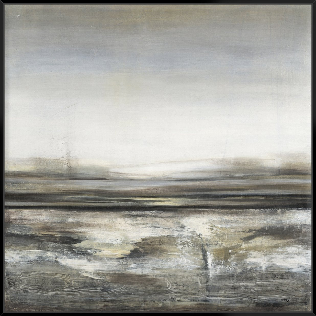 Distant Bay 103X103Cm / Black