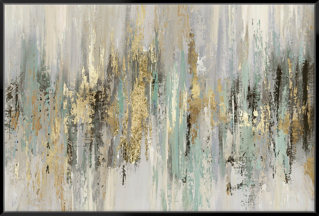 Dripping Gold I 153X103Cm / Black