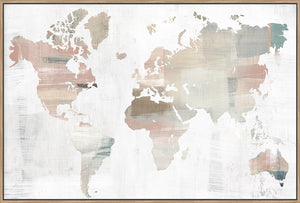 World Travellers Map - Canvas