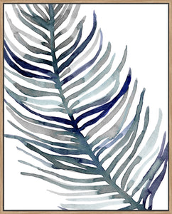 Blue Feathered Palm I - Canvas