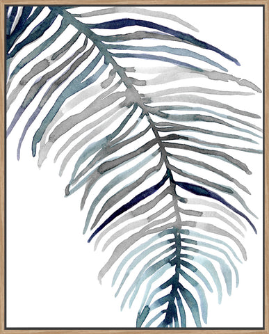 Blue Feathered Palm II - Canvas