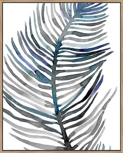 Blue Feathered Palm III - Canvas
