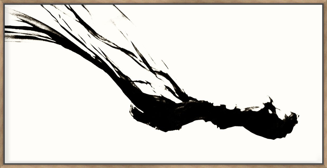 Silk Ink Iii On White 143X73Cm / Natural