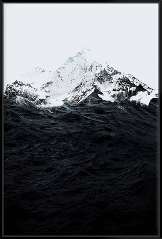 Those Waves Were Like Mountains 153X103Cm / Black