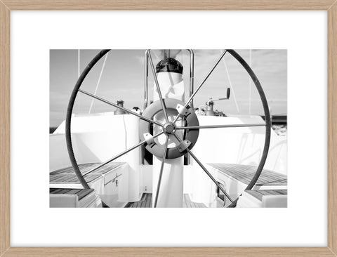 Steering Wheel On A Boat