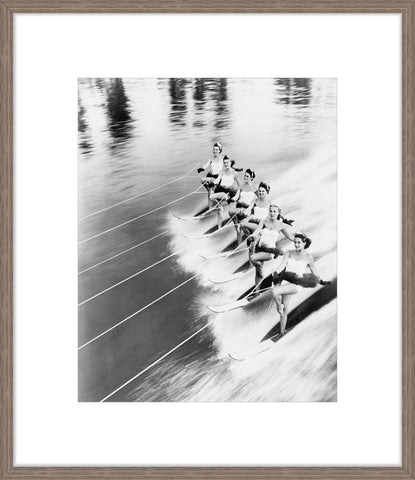 Row Of Women Water Skiing