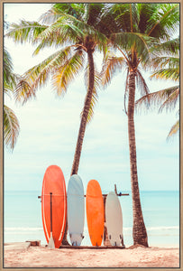 Surfboard Palm Tree II - Canvas