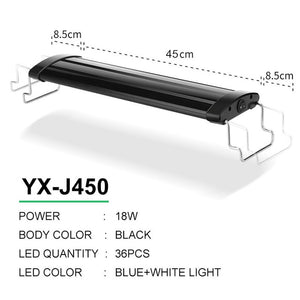 LED Aquarium Lighting 21-45cm High Quality Lamp With Extendable Brackets White And Blue LEDs