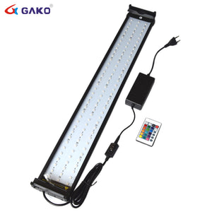 LED Aquarium Lighting with Extendable Brackets Dimmable Remote Controller with Colour Change
