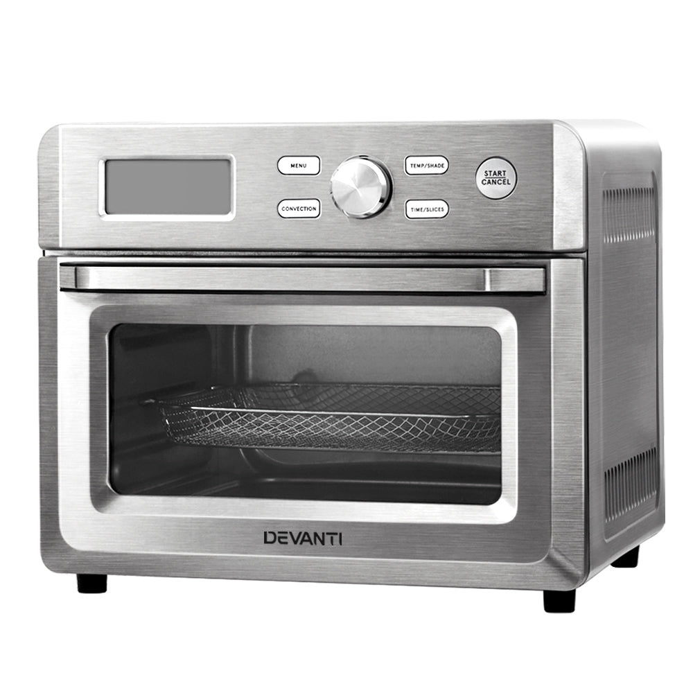 Devanti 20L Air Fryer Convection Oven Oil Free Fryers Kitchen Healthy Cooker Accessories - HomeOutdoorsDirect