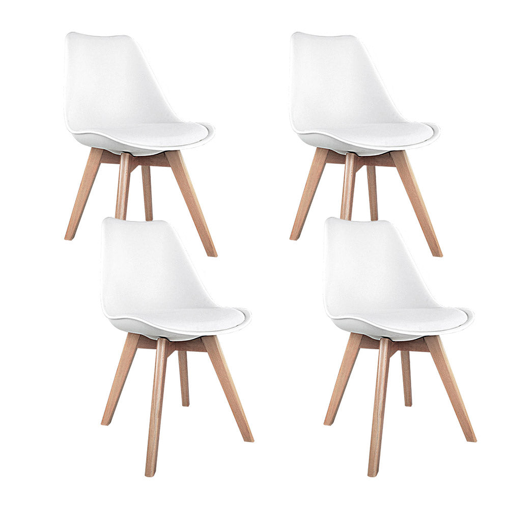 Artiss Set of 4 Padded Dining Chair - White