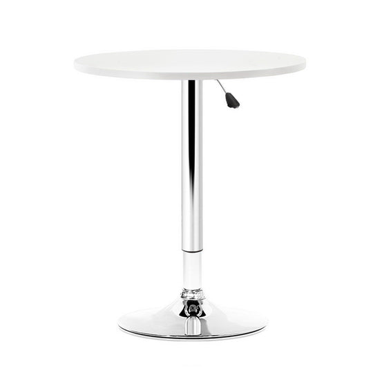 Artiss Adjustable Bar Table Gas Lift Wood Metal White - HomeOutdoorsDirect