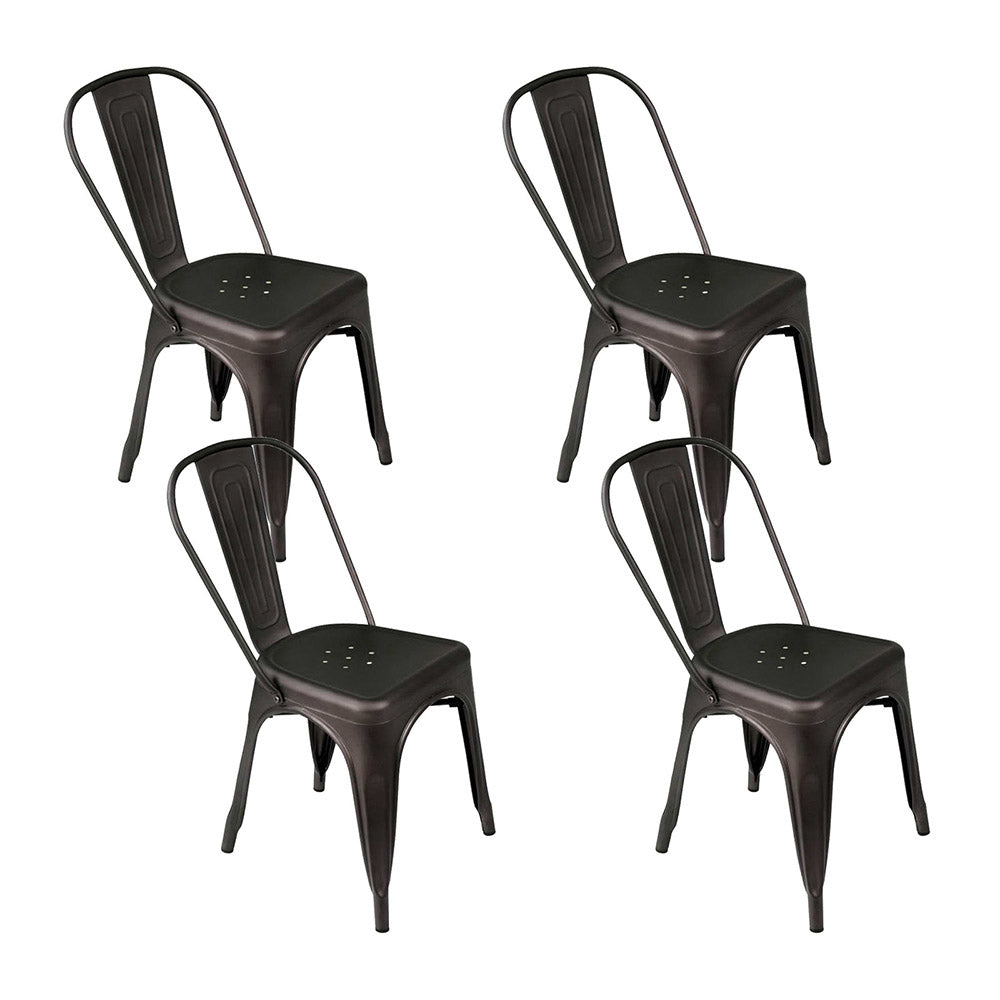 Artiss Set of 4 Metal Bar Stools - Gunmetal