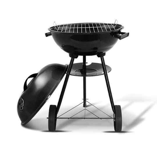 Grillz Charcoal BBQ Smoker Drill Outdoor Camping Patio Wood Barbeque Steel Oven - HomeOutdoorsDirect